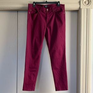 Banana Republic Burgundy Velveteen Skinny Pants